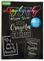 New Crayola Hand Lettering Calligraphy Technique Guide DIY Crafts Adult Teens