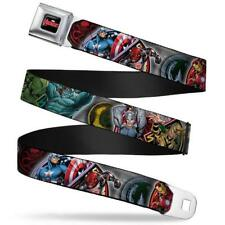 MARVEL AVENGERS Gürtel USA Seatbelt Style Edelstahl original Comic cool no shirt