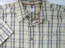 THE NORTH FACE Mens Shirt Size XXL Yellow Plaid Check Short Sleeve Outdoor