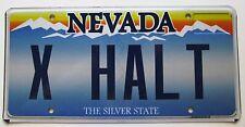 Nevada 2012 VANITY License Plate EXHALT
