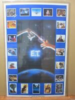 Vintage Poster E.T. The Extra-Terrestrial Movie 1982 Alien collage Inv#G3024