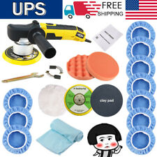 """6"""" Dual Action Polisher Sander Buffer Variable Speed For Car Wax Sealing Glaze"""