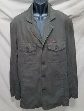 Marlboro Classics Mens Light Weight Jacket Coat Button Up Size 46 Army Green