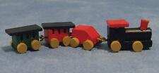 De tren de madera, casa muñeca miniatura de guardería infantil, 1.12 Th Scale