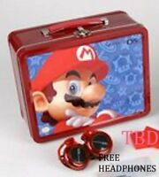 Super Mario Bro. Boys Kids School Lunch Box Gift Free Headphones Girls