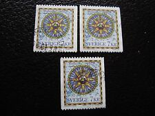 SUEDE - timbre yvert et tellier n° 1989 x3 obl (A29) stamp sweden (Z)
