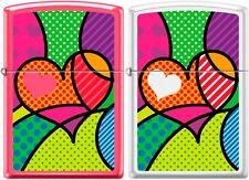 Zippo 2 HEARTSET Funky Heart, Patch Work, Hearts, Polka Dots Very Rare NEW