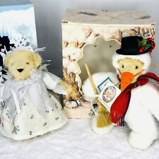 Lot of 2 Muffy Vanderbears Muffy Snowbear 1991 Snowflake 1993 Bears Le Tag Box