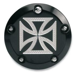 Accutronix C1605-CB Points Cover - Maltese Cross - Black Anodized
