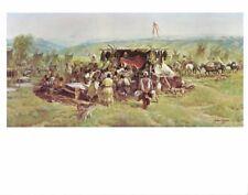 John Clymer Western Art Print TRADER AT PEIRRE'S HOLE Telon Mtns Cowboy Artist