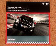 2011 MINI JOHN COOPER WORKS Sales Brochure - Hatch Convertible Clubman