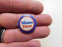 "Nixon Now  Political Campaign .92""  Pin-Back Button Vintage"