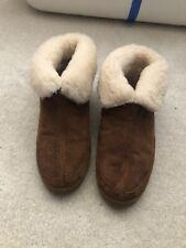 Womens Staheekum Leather Slippers Wool Lined 7