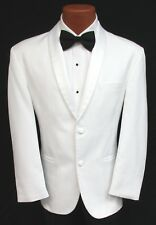 Classic White Shawl Tuxedo Dinner Jacket 2 Button Masonic Shriner Coat Wedding