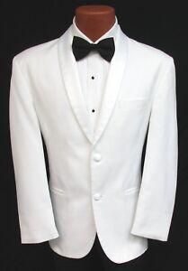 Classic White Shawl Tuxedo Dinner Jacket 2 Button Masonic Shriner Coat Wedding