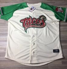 Fresno Grizzlies Tacos Taco Tuesday Jersey Men's MEDIUM Authentic NWT Nationals