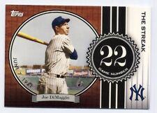 2007 Topps JOE DIMAGGIO Rare 'THE STREAK' INSERT #JD22 New York Yankees HOF SP