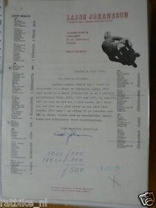 HT004-ORIGINAL AUTOGRAPH LASSE JOHANSSON MAICO,KREIDLER,SIGNATURE,AUTOGRAMM,
