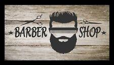 Barber Shop Bar Runner Counter Mat Barbers Salon Hairdressing Rustic 1080
