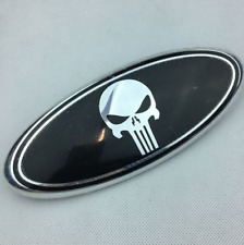 """1x New 9"""" Punisher Front Hood Grille Oval Emblem For Ford F150 F250 Edge Exploer"""