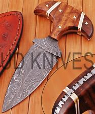 """UD KNIVES CUSTOM HANDMADE DAMASCUS STEEL 6"""" HUNTING FULL TANG KNIFE SN-4741"""