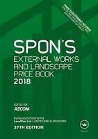 Spon's External Works and Landscape Price Book 2018 (Spon's Price Book-ExLibrary