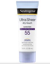 🍊*Neutrogena ULTRA Sheer DRY TOUCH SUNSCREEN- Spectrum SPF 55-Clean 3 Fl Oz