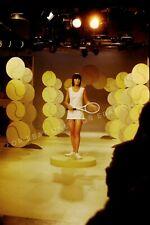Vintage 1971 Photo Slide of Girl Modeling Tennis Dress The MIKE DOUGLAS SHOW