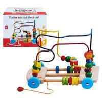 Bead Maze Wooden Toys| Roller Coaster| Pull Along Toy| Colorful Abacus For 1 2 3