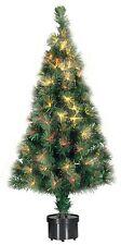 Künstlicher Tannenbaum Weihnachtsbaum 60cm in Fiberglas-Optik LED Wechselfarbe