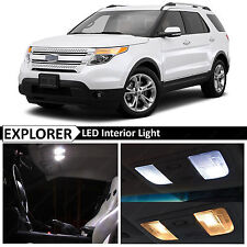 13x White Interior LED Light Replacement Package Kit for 2011-2017 Ford Explorer