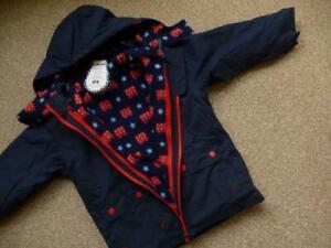 New JOJO MAMAN BEBE 4-in-1 Waterproof COAT & Fleece Lined JACKET BNWT All Season