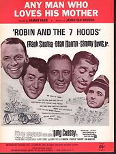 Any Man Who Loves His Mother 1964 Robin & the 7 Hoods Frank Sinatra Sheet Music