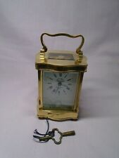 L'EPEE TIMEPIECE DOUCINE SERPENTINE CARRIAGE CLOCK  IN EXCELLENT CONDITION + KEY