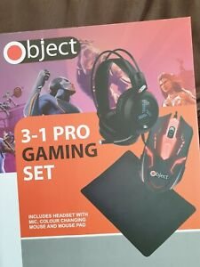 Object 3 in 1 Pro Gaming Set with Mouse, Headset and Mouse Pad