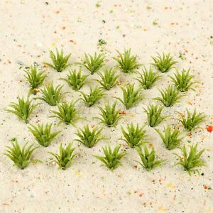 50Pcs HO Scale Model Ground Cover Grass Green 1:60-1:75 Railroad Layouts Scenery