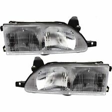 1993 1994 1995 1996 1997 TOYOTA COROLLA HEADLIGHT HEAD LAMP LEFT & RIGHT PAIR