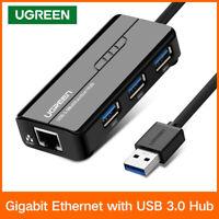 Ugreen USB3.0 Gigabit USB Ethernet Lan RJ45 Network Adapter Card HUB to 1000Mbps