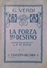Giuseppe VERDI La forza del destino OPERA IN 4 ATTI DI F. M, PIAVE RICORDI