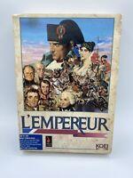RARE L'Empereur (PC, 1991) IBM 3.5 Disk Game Manual Box Inserts Map Complete CIB
