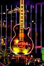 Hard Rock Cafe Guitar Night Las Vegas America Photograph Picture Poster Print