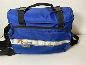 Blue Lowepro Polo Camera & Accessory Bag w/Shoulder & Hip Straps camcorder