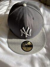 new era 59fifty 7 1/4 NEW YORK YANKEES GREY TONAL BASEBALL CAP