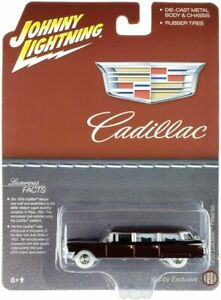 JOHNNY LIGHTNING 1:64 1959 BROWN CADILLAC HEARSE DIECAST MODEL CAR JLSP113 chase