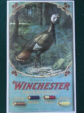 """Winchester Shotguns Advertising Poster Turkey,""""Cock of the Woods"""""""
