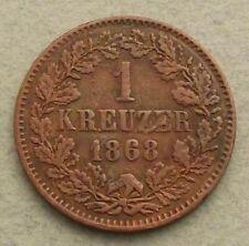 German states kreuzer 1868 Baden db214