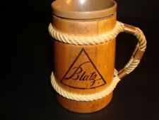 Blatz Logo Wooden Mug, Milwaukee, Wisconsin