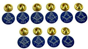MASONIC LAPEL PIN BADGE / TIE PIN OWN PERSONALISED GIFT SOLID BRASS LODGE No x10