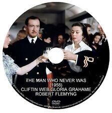 THE MAN WHO NEVER WAS (1956) CLIFTON WEBB, GLORIA GRAHAME & FLEMYMG DVD