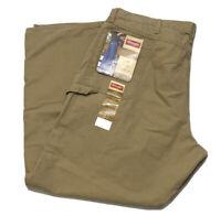 Mens Wrangler Carpenter Loose Fit Khaki Pants Size 44x32 NWT